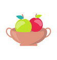 vase with apples minimalistic vector image vector image
