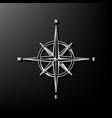 wind rose sign gray 3d printed icon on vector image vector image