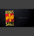 xmas sale banner on dark background vector image