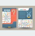 Abstract design template layout vector image