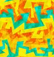bright yellow graffiti seamless pattern vector image