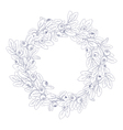 white wreath of blueberry vector image
