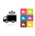 Delivery icon or delivery symbol vector image