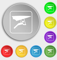 hang-gliding icon sign Symbol on eight flat vector image