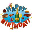 happy birthday sweet vector image