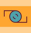 camera logo vector image