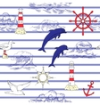 Nautical seamless pattern vector image