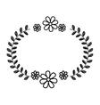elegant beautiful frame isolated icon vector image