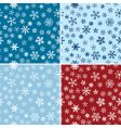 snow seamless backgrounds set vector image