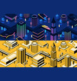 3d isometric modern cities - different vector image vector image