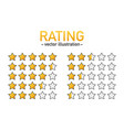 5 star rating icon isolated badge for website or vector image