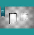 a set of frames weighing on the wall frame for vector image vector image