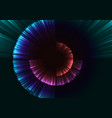 abstract digital shell grow in dark background vector image vector image