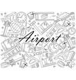 airport line art design vector image vector image