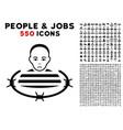 arrested prisoner icon with bonus vector image