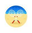 Badminton Racket icon Summer Vacation vector image vector image
