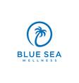 balm tree beach sign vector image