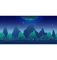 Blue Planet Game Background vector image