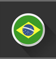 brazil national flag on dark background vector image vector image