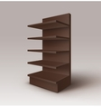 Brown Exhibition Stand Shop Rack with Shelves vector image
