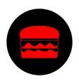 Burger simple icon vector image vector image