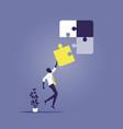 business solving problems concept-businessman vector image