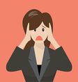 Business woman covering her ears vector image vector image