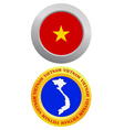Button as a symbol VIETNAM