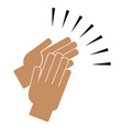 clapping hands on a white background vector image vector image
