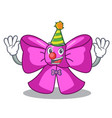 clown gift bow tie isolated on cartoon vector image vector image