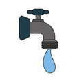 color image cartoon watertap with drop icon vector image
