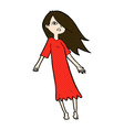 comic cartoon ghost like girl vector image vector image