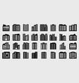 company icons set big building vector image vector image