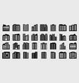company icons set big building vector image vector image