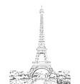 eiffel tower sketch hand drawn vector image