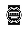 electric meter glyph icon vector image vector image