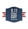 Eleventh September Patriot Day national Banner vector image vector image