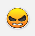 emoticon for expressing emotion angry and vector image