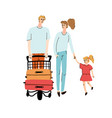 family with child walking vector image vector image