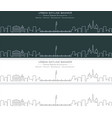 geneva single line skyline banner vector image vector image