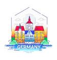 germany - modern line travel vector image vector image