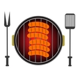 Grill Icon Isolated on White Background vector image vector image