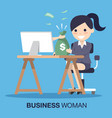 hand giving money to business woman vector image