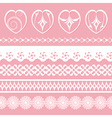 laces and hearts vector image vector image