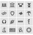 line greece icon set vector image