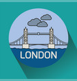 london tower bridge linear vector image vector image