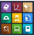 mathematics flat icons set 51 vector image