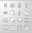 medical hospital health thin line icon vector image vector image