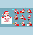merry christmas funny santa claus set vector image