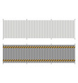 metal fence from profiled panels vector image